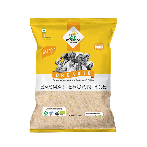Organic Brown Basmati Rice  (1 KG)