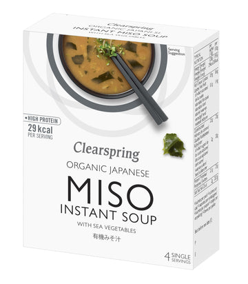Organic Japanese Instant Miso Soup With Sea Vegetable  (4x10G)