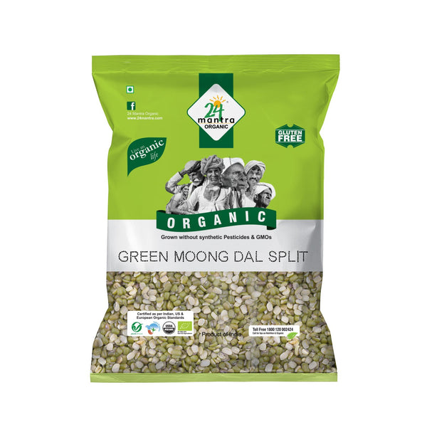 Organic Green Moong Dal Split   (500G)