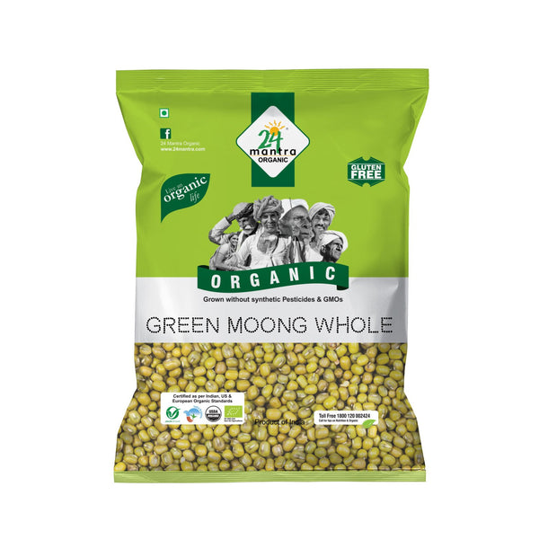 Organic Green Moong Whole   (500G)