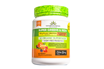 Super Greens & Reds 50 Organic Superfoods Probiotic Blend - Citrus Berry (500G)