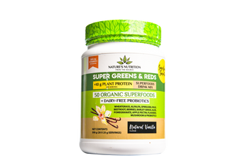 Super Greens & Reds 50 Organic Superfoods Probiotic Blend - Natural Vanilla (500G)