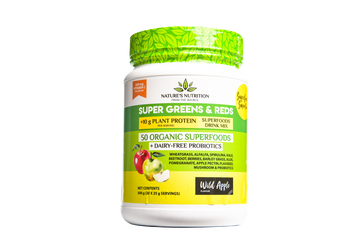 Super Greens & Reds 50 Organic Superfoods Probiotic Blend - Wild Apple (500G)