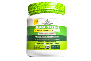 Super Greens & Reds 50 Organic Superfoods Probiotic Blend - Natural Green (360G)