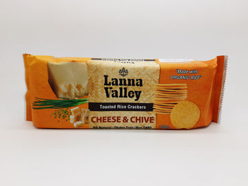 Organic Rice Cracker Cheese & Chive (100G)
