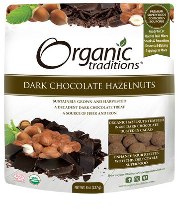 Organic Hazelnut Dark Chocolate (227G)