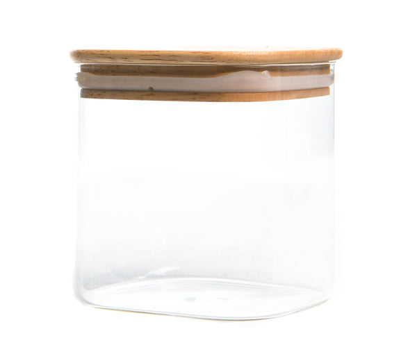 Storage Container with wood Cover (600ML)