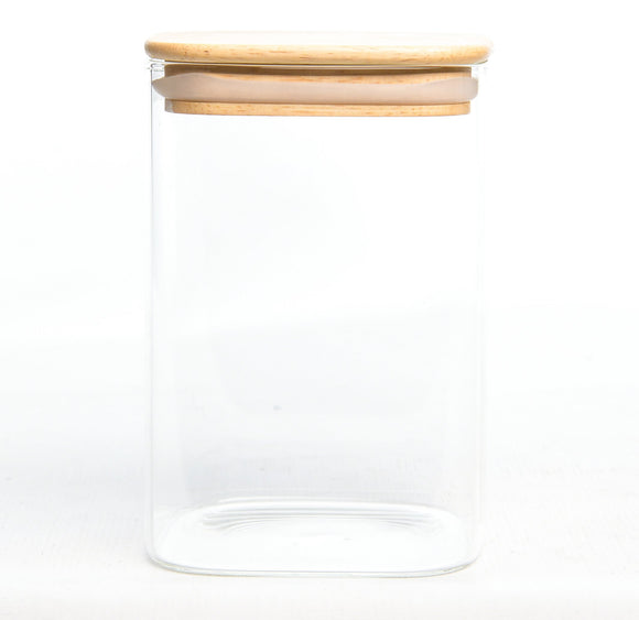 Storage Container with wood Cover (900ML)