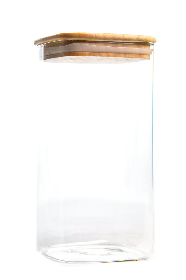 Storage Container with wood Cover (1200ML)