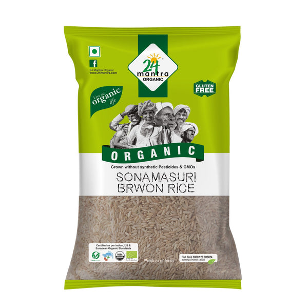 Organic Sonamasuri Brown Rice  (1 KG)