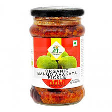 Organic Mango Pickle With Garlic (300G)