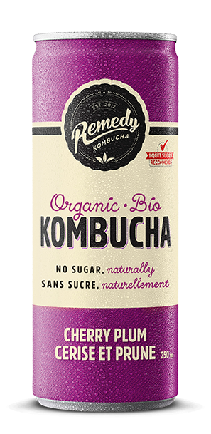 Organic  Kombucha Single Can Cherry Plum (250ML)