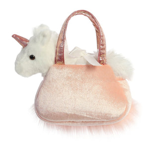 "Aurora Fancy Pals - 7"" Shimmers Rose Unicorn Carrier"