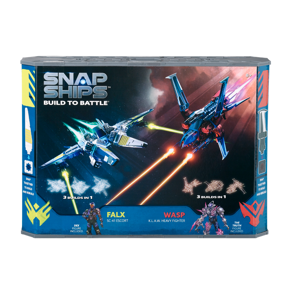 Snap Ships - Wasp K.L.A.W. Heavy Figher/ Falx SC-41 Escort Battle Set