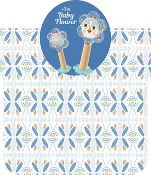 Baby White - BabyFlower Infant Rattle