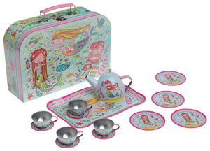 15pc. Mermaid Tin Tea Set