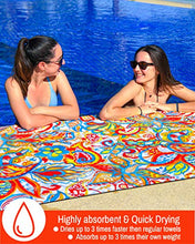 Load image into Gallery viewer, Microfiber Beach Towel - Quick Dry - Lightweight - Sand Free