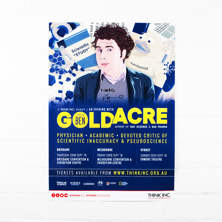 Ben Goldacre 2016 Tour Poster - Signed