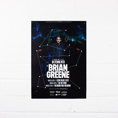 Brian Greene 2016 Tour Poster - Signed