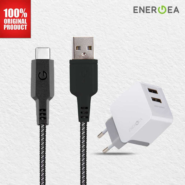 Charger Energea Nylotough Kit 3.4A - USB A to C Cable