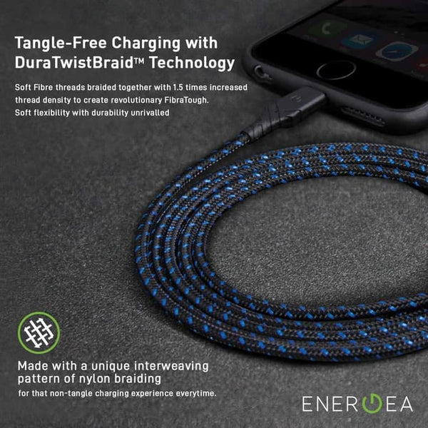 Kabel Charger Energea Duraglitz USB-A to USB-C 18cm