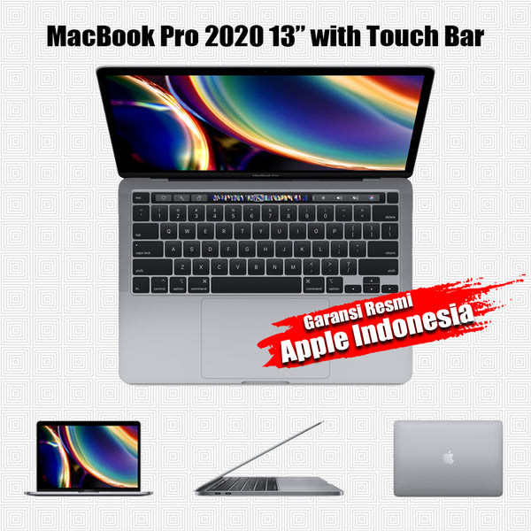 "Macbook Pro 2020 13"" 8/256GB Touch Bar i5 1.4GHz - New Resmi iBox"