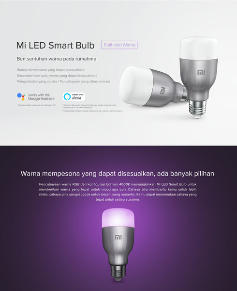 Xiaomi Mi LED Smart Bulb (White and Color)