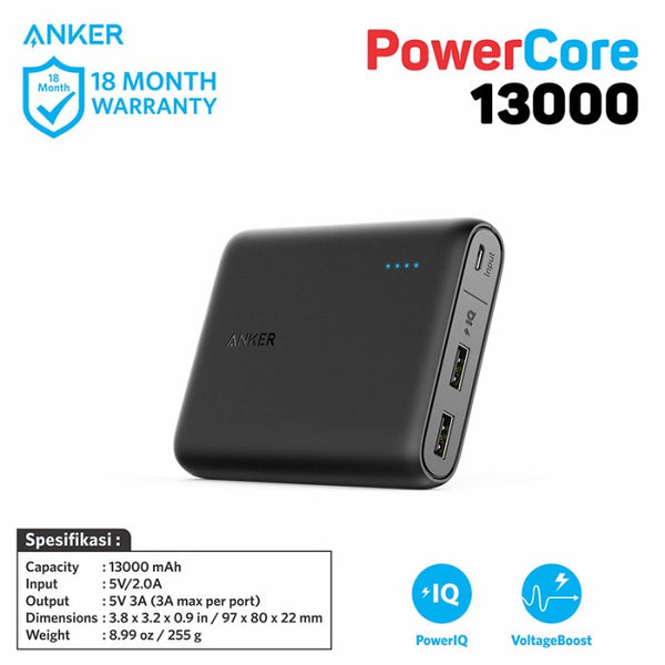 PowerBank Anker PowerCore 13000 mAh Black - A1215011