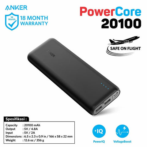 PowerBank Anker PowerCore 20100 mAh - A1271