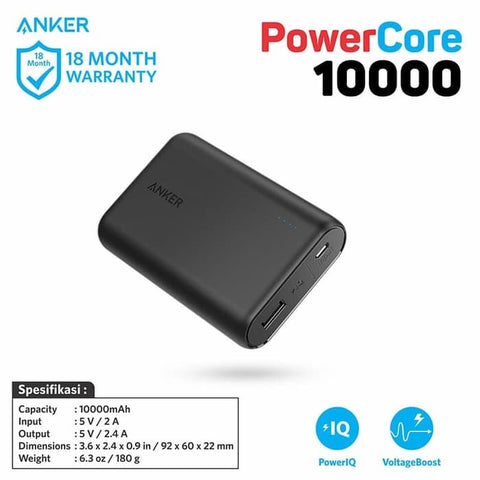 PowerBank Anker PowerCore 10000mAh - A1263