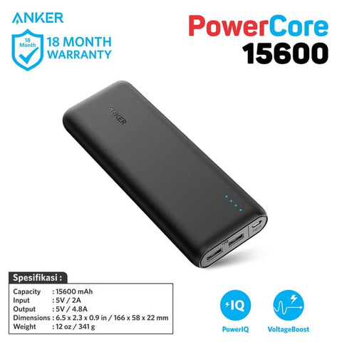 PowerBank Anker PowerCore 15600 mAh - A1252