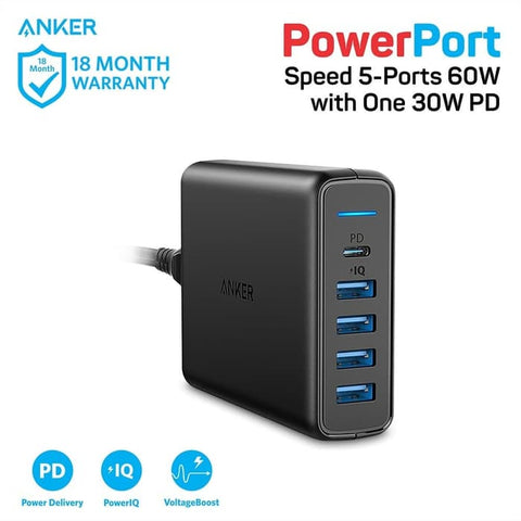 Charger Anker PowerPort Speed PD 5 - A2056L11