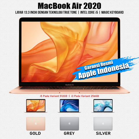 "Macbook Air 2020 13"" 8/512GB i5 - New Resmi iBox"