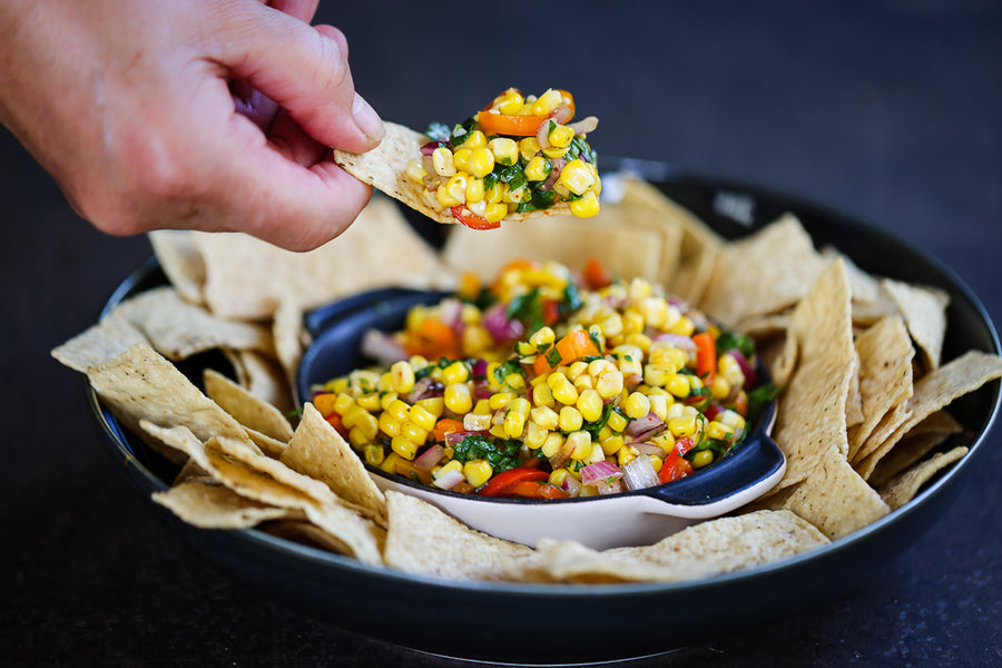 Sweet Corn Salsa - your summery, tasty, healthy snack or salad.