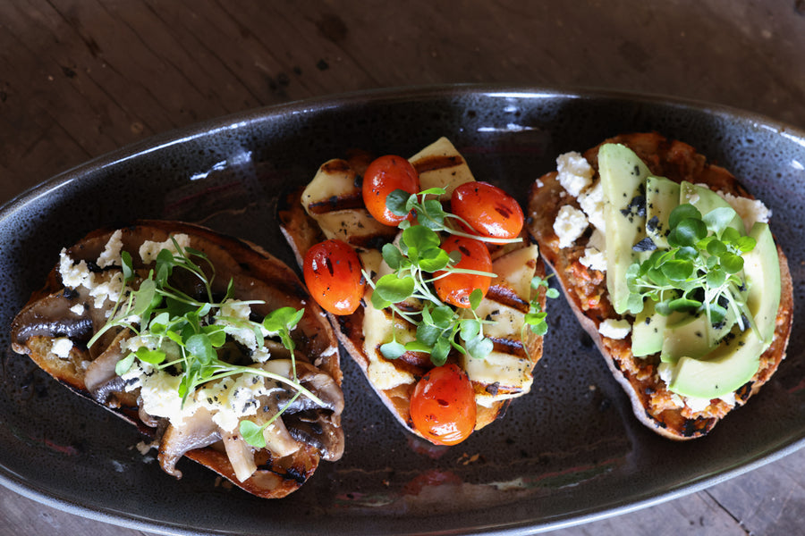 Breakfast, Brunch or Brinner Bruschetta (say that three times fast!)