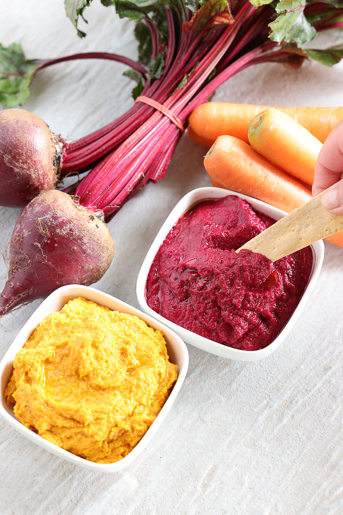 Hummus Hack beetroot and carrot