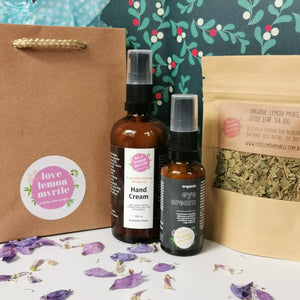 Love Lemon Myrtle Gift Pack - Eye cream, hand cream & loose leaf tea