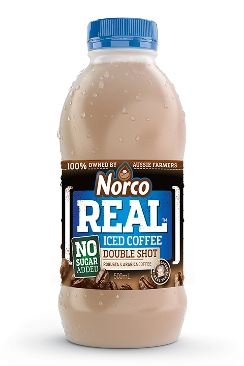 Norco REAL Flavoured Milk - Iced Coffee Double Shot No Added Sugar - 500ml