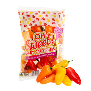 **SPECIAL** Sweet Baby Capsicums (500g)