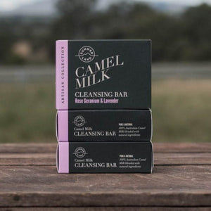 Cleansing Bar Rose Geranium & Lavender 100g