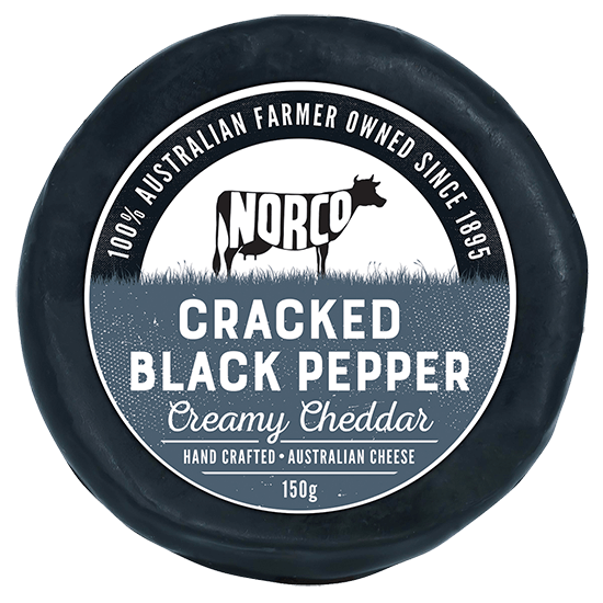 Norco Premium Cracked Pepper Cheddar 150g