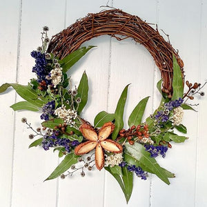 Handmade Dried Flower Wreath 30cm