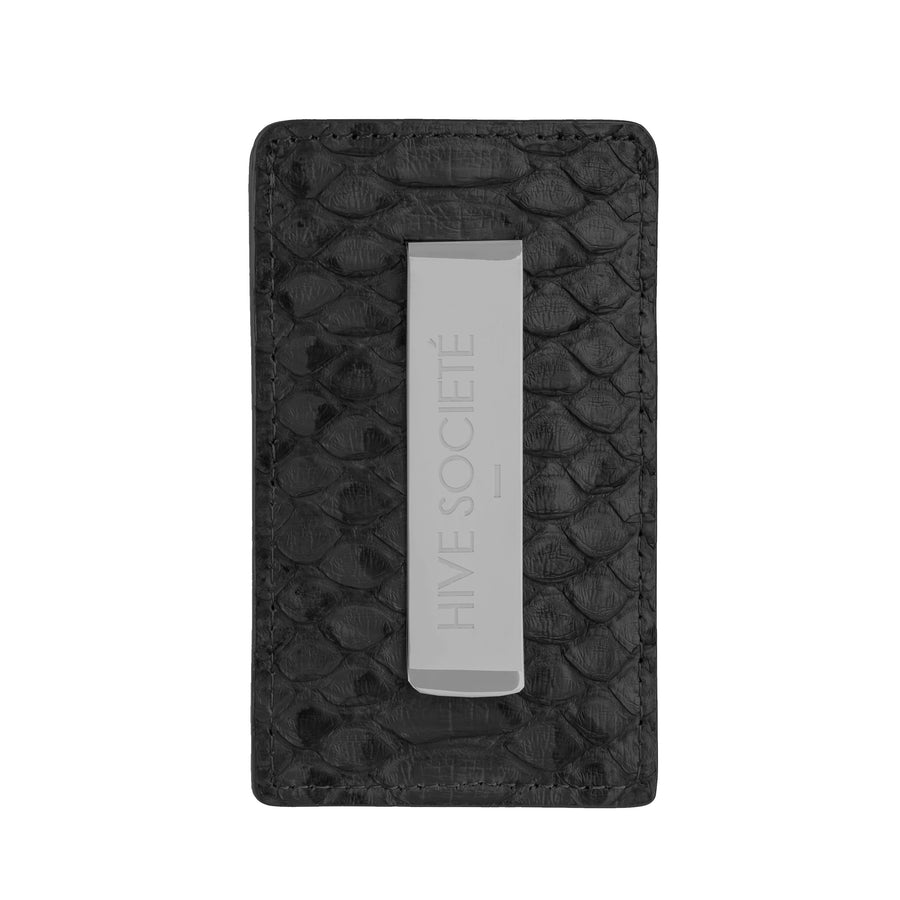 Black Python Skin Money Clip Wallet