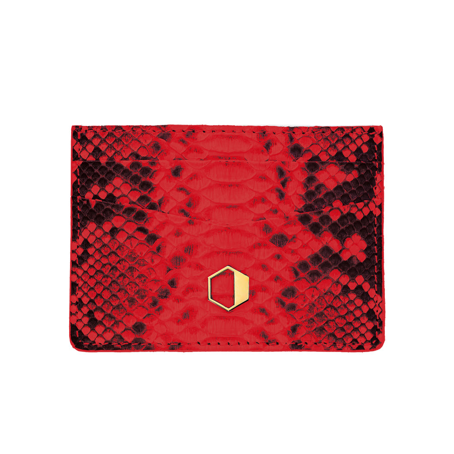 Red Python Skin Credit Card Holder