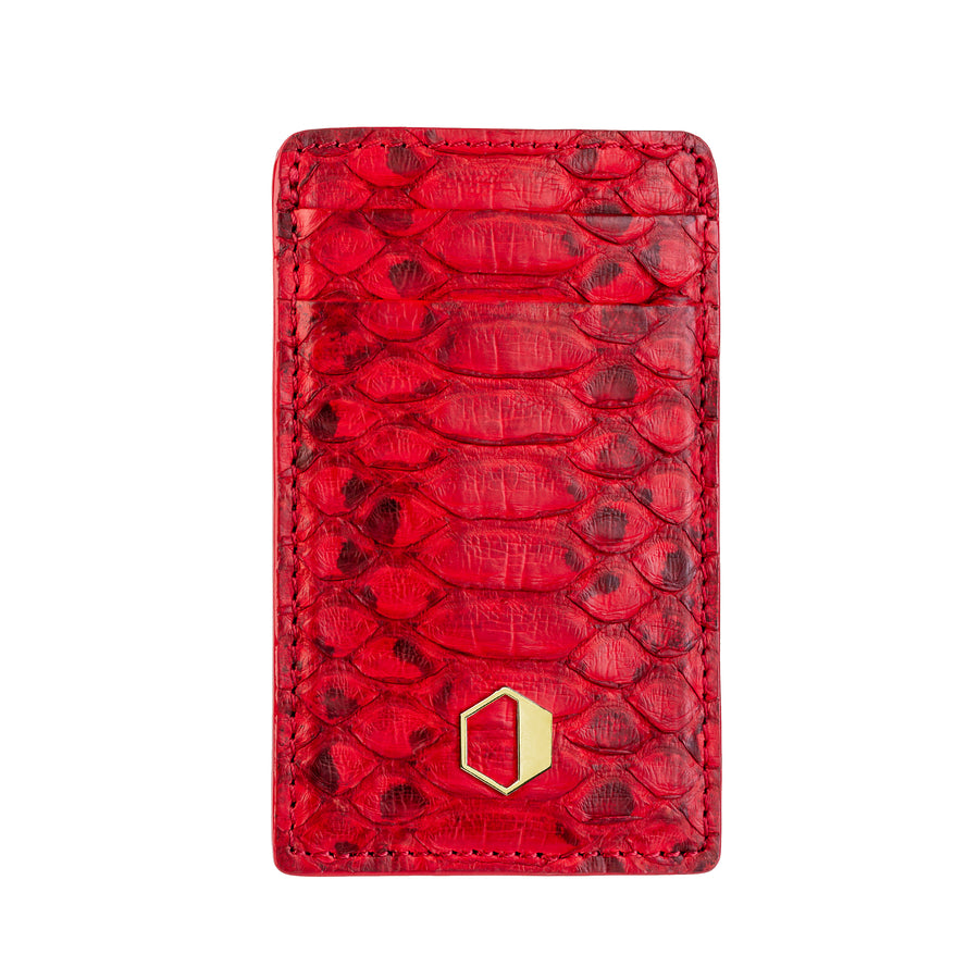 Red Python Skin Money Clip Wallet