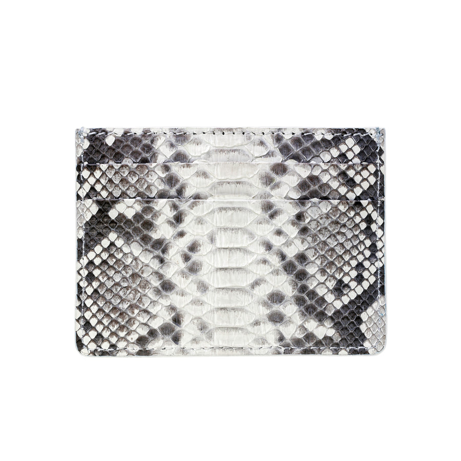 White Python Skin Credit Card Holder