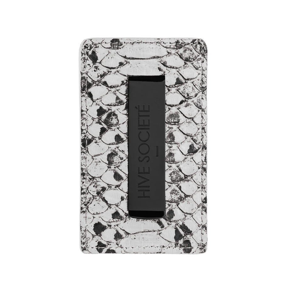 White Python Skin Money Clip Wallet