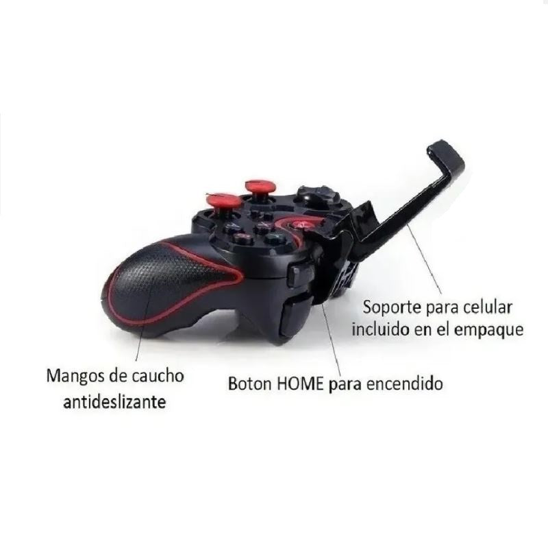 Control Bluetooth Celular Pc Gamepad Para Android + Soporte