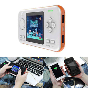Consola de juegos Retro a color y Power Bank 2 en 1