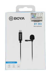 Micrófono Digital Boya By-m3 Clip-on Digital Usb Tipo C
